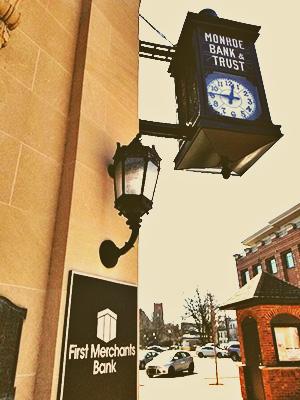 Monroe Bank and Trust Historic Clock