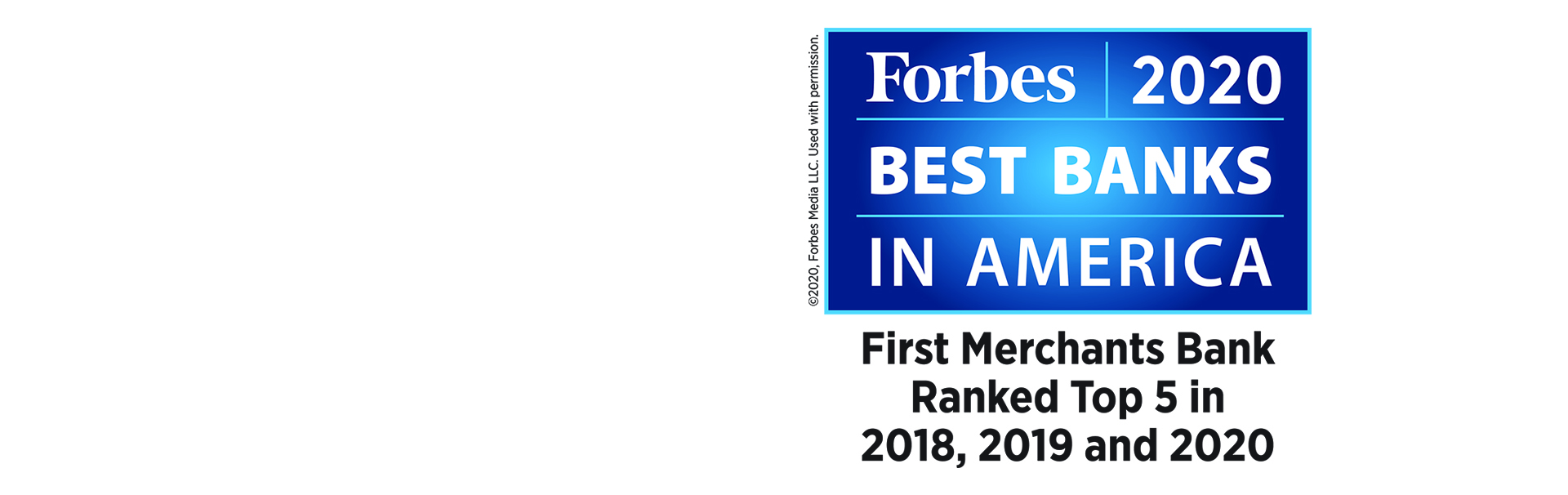 First Merchants Bank Forbes best bank in America 2020