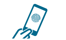 Illustration of using iPhone with Touch ID