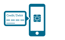 Illustration of setting your First Merchants card as your default for Apply Pay